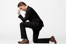 Tebowing, Suited up Drew Steliga for Savvy Spice blog NYE post